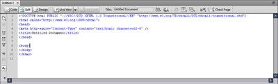 Panel Code view sekaligus berfungsi sebagai Text Editor dengan fasilitas Color-code, dapat menuliskan berbagai bahasa scripting.